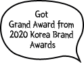 Got Grand Award from 2020 Korea Brand Awards
